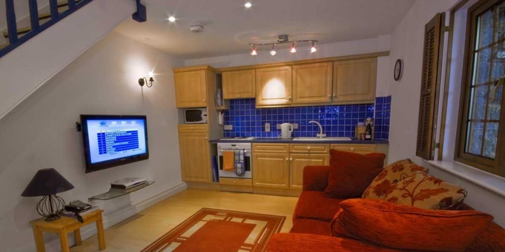 La Pointe Farm - Guernsey Self Catering - Cobo Apartment - Lounge Area