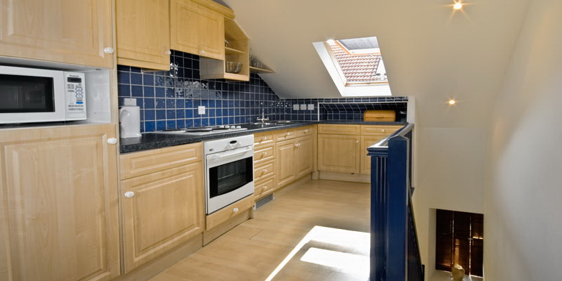 La Pointe Farm - Guernsey Self Catering - Vazon Apartment - Kitchen